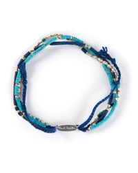 Paul Smith - Blue Beaded Bracelet for Men - Lyst