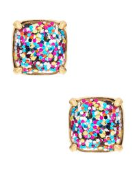 kate spade new york | Multicolor Multi-glitter Square Studs | Lyst