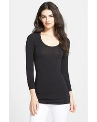 Splendid | Black Long Sleeve Tee | Lyst