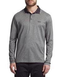 BOSS - Gray Boss Green C-tivoli Long Sleeve Polo Shirt for Men - Lyst