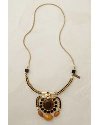 Blank | Brown Amber Pendant Necklace | Lyst