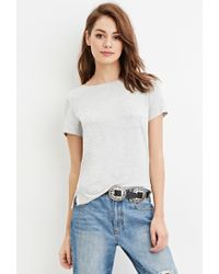Forever 21 | Gray Classic Pocket Tee | Lyst