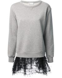 RED Valentino - Gray Sweatshirt Dress - Lyst