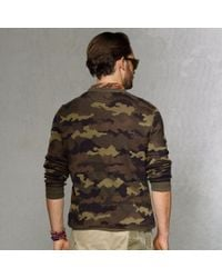 Polo Ralph Lauren - Natural Camouflage Henley Sweater for Men - Lyst