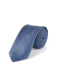 HUGO | Blue Silk Tie: 'tie 6 cm' for Men | Lyst