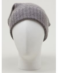 The Elder Statesman - Gray Slouch Beanie Hat for Men - Lyst
