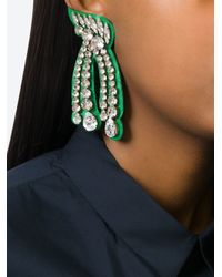 Shourouk | Green 'legend' Earrings | Lyst