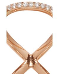 Fallon - Pink Rose Gold Pavé Infinity Ring - Lyst
