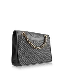 Tory Burch - Brown Fleming Medium Quilted Smooth Leather Bag W/chain - Lyst