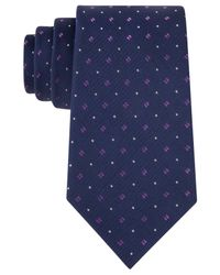 Michael Kors | Blue Michael Textured Tailor Tie for Men | Lyst