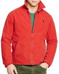 Polo Ralph Lauren | Red Poplin Windbreaker for Men | Lyst