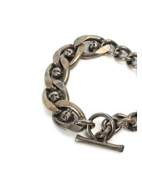 Tobias Wistisen - Metallic Skull Chain Bracelet for Men - Lyst