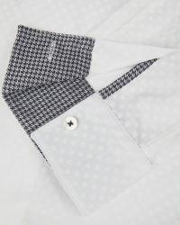 Ted Baker | White Tonal Spot Print Shirt for Men | Lyst