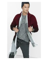 Express | Red Shawl Collar Cable Knit Toggle Cardigan for Men | Lyst