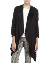 ANAMÁ - Black AnamだBrushed Open Front Cardigan - Lyst