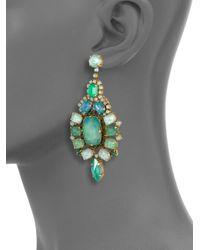 Aerin Erickson Beamon - Green Jewel Drop Earrings - Lyst