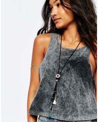 ASOS | Black Western Tassel Necklace | Lyst