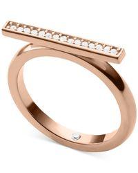 Michael Kors | Pink Clear Pavé Bar Motif Ring | Lyst