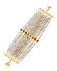Dina Mackney - Metallic Multi-strand Labradorite Bracelet - Lyst