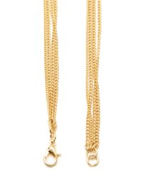Forever 21 - Metallic Beaded Multi-chain Necklace - Lyst
