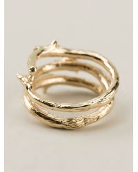 Aurelie Bidermann - Metallic Rosebud Ring - Lyst
