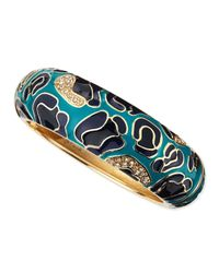 Sequin - Blue Large Camo Enamel Bangle - Lyst