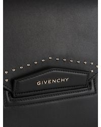 874ff46882f6 Lyst - Givenchy Antigona Envelope Studded Leather Clutch in Black