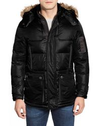 Rainforest | Black 'ridgeville' Thermoluxe Puffer Jacket With Faux Fur Trim for Men | Lyst