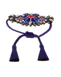 Shourouk - Blue Bora Amerindien Bracelet - Lyst