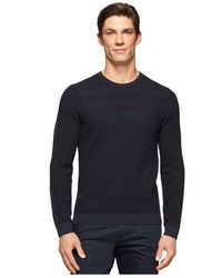 Calvin Klein | Blue Crew-neck Sweater for Men | Lyst