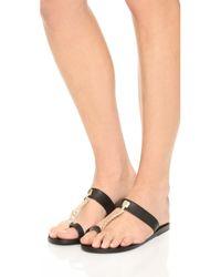 Ancient Greek Sandals - Black Melpomeni Thong Sandals - Lyst