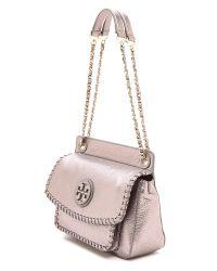 Tory Burch - Purple Marion Small Shoulder Bag Black - Lyst