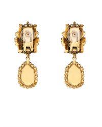 Erickson Beamon | Metallic 'damsel' Crystal Spiral Fringe Earrings | Lyst