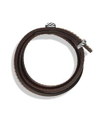 David Yurman | Brown Cable Triple-wrap Bracelet for Men | Lyst
