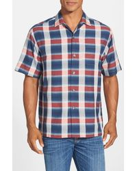 Tommy Bahama - Blue 'limbo Lagoon' Original Fit Short Sleeve Silk Camp Shirt for Men - Lyst