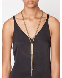 Lanvin | Yellow Chain Lariat Necklace | Lyst