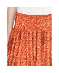 Ralph Lauren | Multicolor Geometric-print Tiered Skirt | Lyst