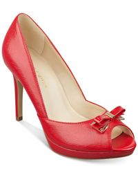 Marc Fisher | Red Marsha Platform Pumps | Lyst