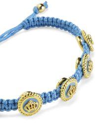 Juicy Couture | Blue Status Coin Friendship Bracelet | Lyst