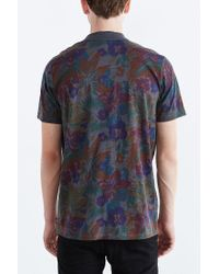 Vans - Gray Sherwood Floral Polo Shirt for Men - Lyst