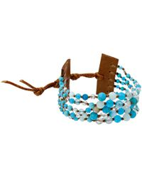 "Chan Luu | Blue 6 1/4"" Multi Strand Single 