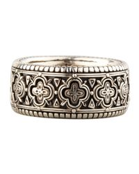 Konstantino | Metallic Carved Sterling Silver Band Ring | Lyst