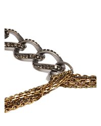 Lanvin - Brown Chain Choker Necklace - Lyst