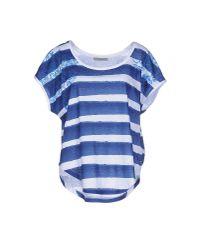 Pinko - Blue T-shirt - Lyst