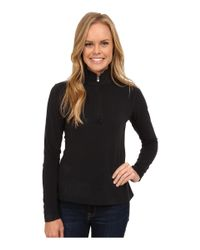 Spyder | Black Shimmer Bug Velour Fleece T-neck | Lyst