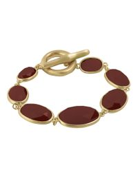 Karen Kane | Red Reflection Pool Link Bracelet | Lyst