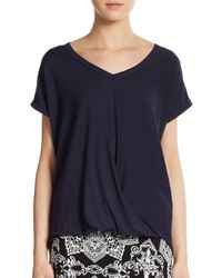 Bobeau - Blue Draped Jersey Top - Lyst