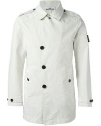 Stone Island | White Short Raincoat for Men | Lyst