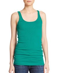 Vince - Green Favorite Tank Top - Lyst