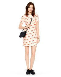 kate spade new york - Pink Flamingo Sheath Dress - Lyst